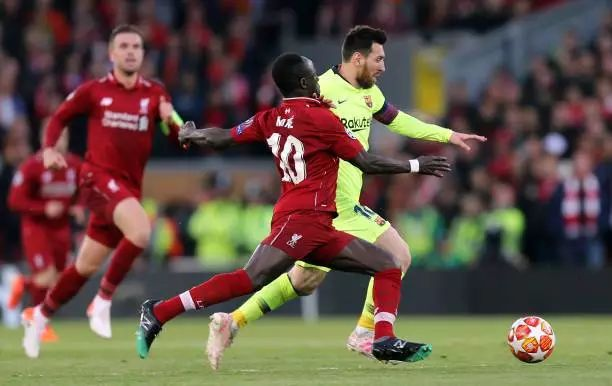 Sadio Mane reveals what Lionel Messi told him after Champions League game in Anfield