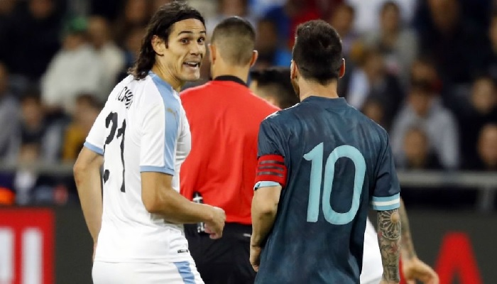 Lionel Messi Reveals What Cavani Told Him In The International Friendly Match Which Resulted In A Fight