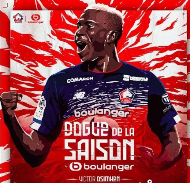 Victor Osimhen crowned Lille player of the year
