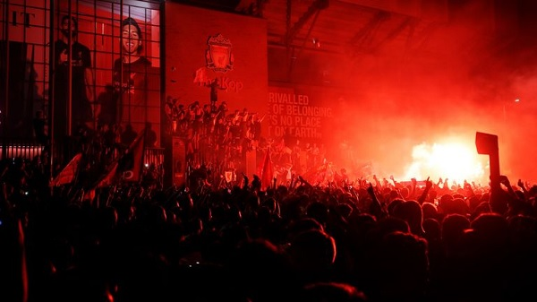 Merseyside Police arrested 10 Liverpool fans for celebrating EPL title at Anfield