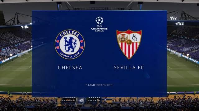 Chelsea lineup vs Sevilla Champions League
