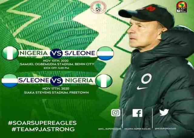 Nigeria vs Sierra Lone