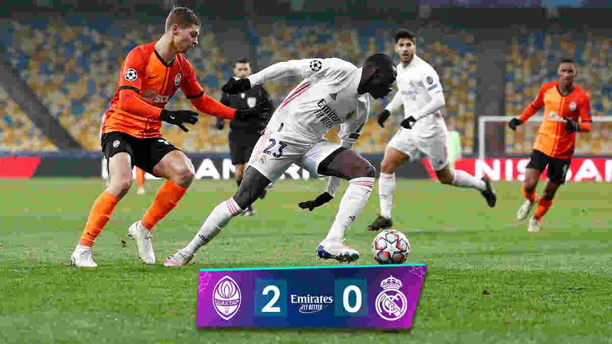 Shakhtar Donetsk 2-0 Real Madrid: Los Blancos suffered 2 nil defeat in Kiev