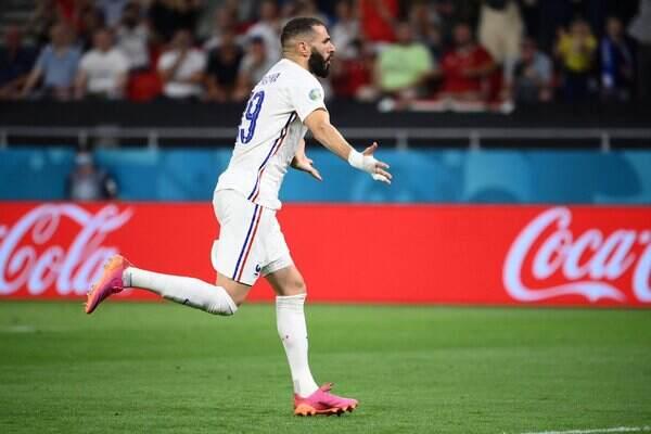 Karim Benzema scores first Euro 2020 goal for France