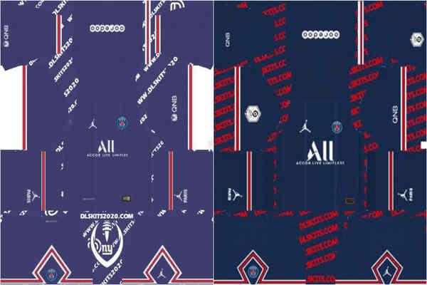 Paris Saint-Germain, PSG Kits 2021-2022 Jordan - Dream League Soccer 21 Kits