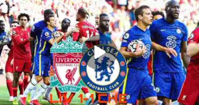 Liverpool 1-1 Chelsea Full Highlights, Havertz and Salah on scoring sheet