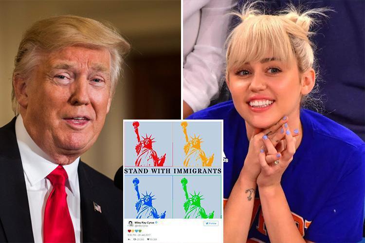 Miley Cyrus Blasts Donald Trump's 'muslim Ban' With