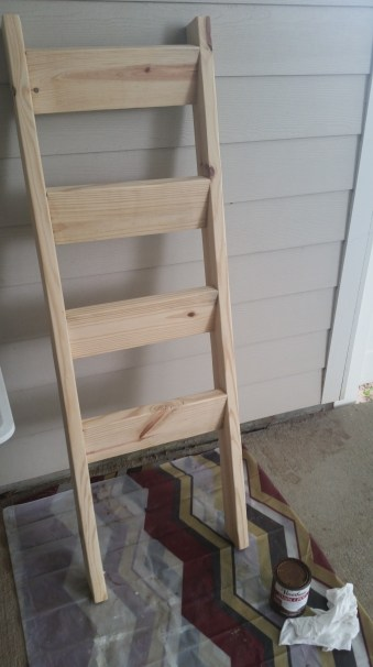 Ladder sanded and ready to stain!