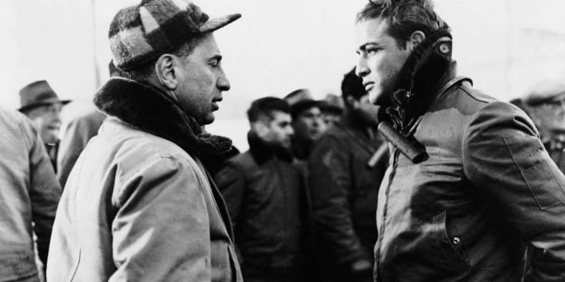 Elia Kazan directing Brando