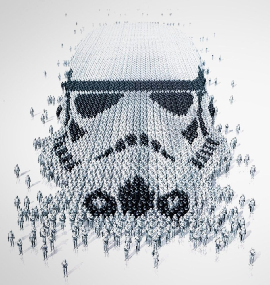 Star Wars Identities Exhibition Poster - Stormtrooper / Stormtroopers version