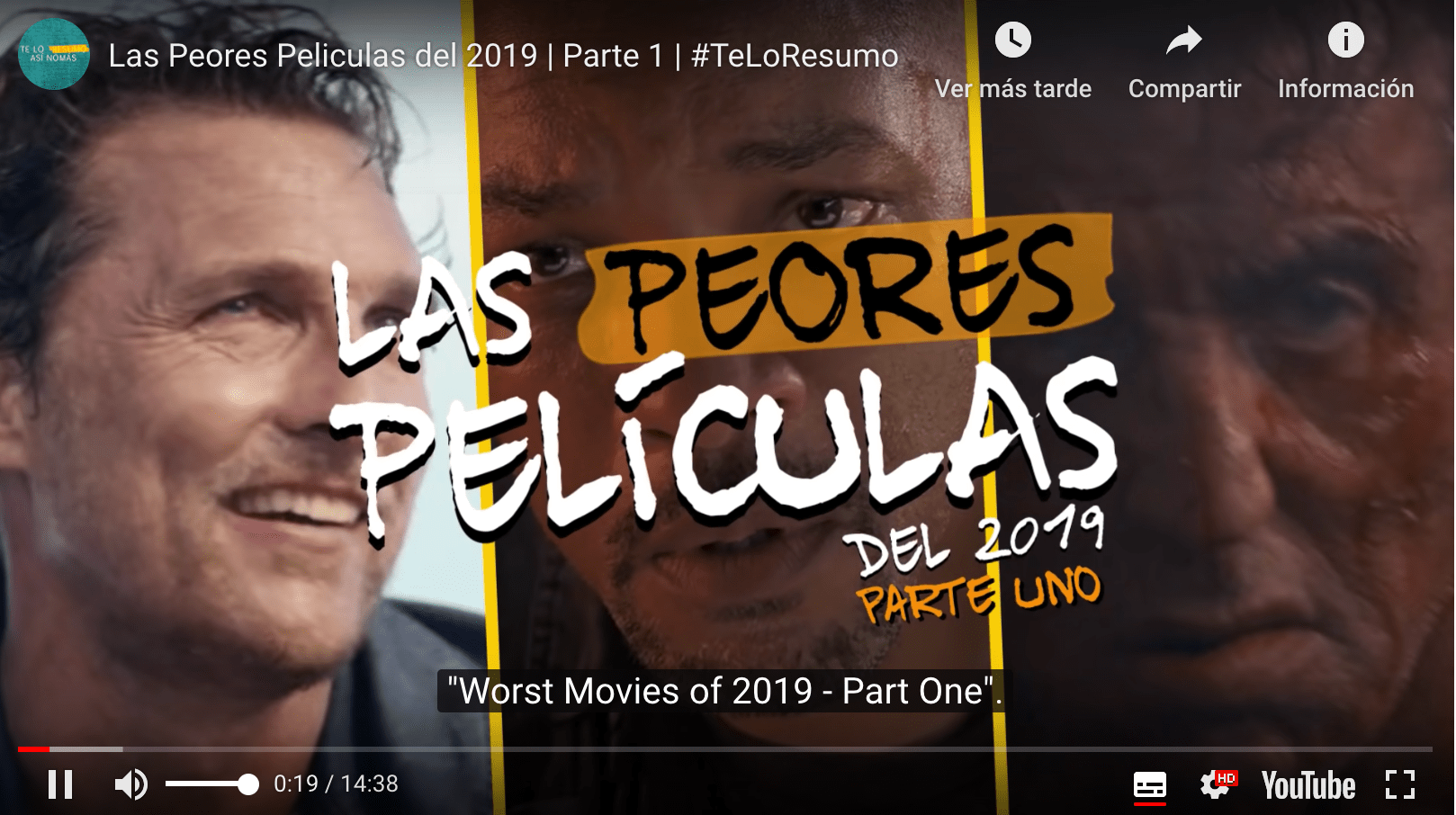 I willl summarise it for you ! (Te Lo Resumo) Worst films of 2019