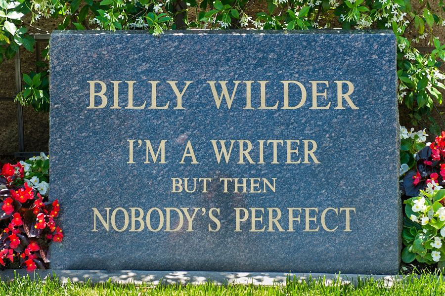 Billy Wilder's grave - thescriptblog.com