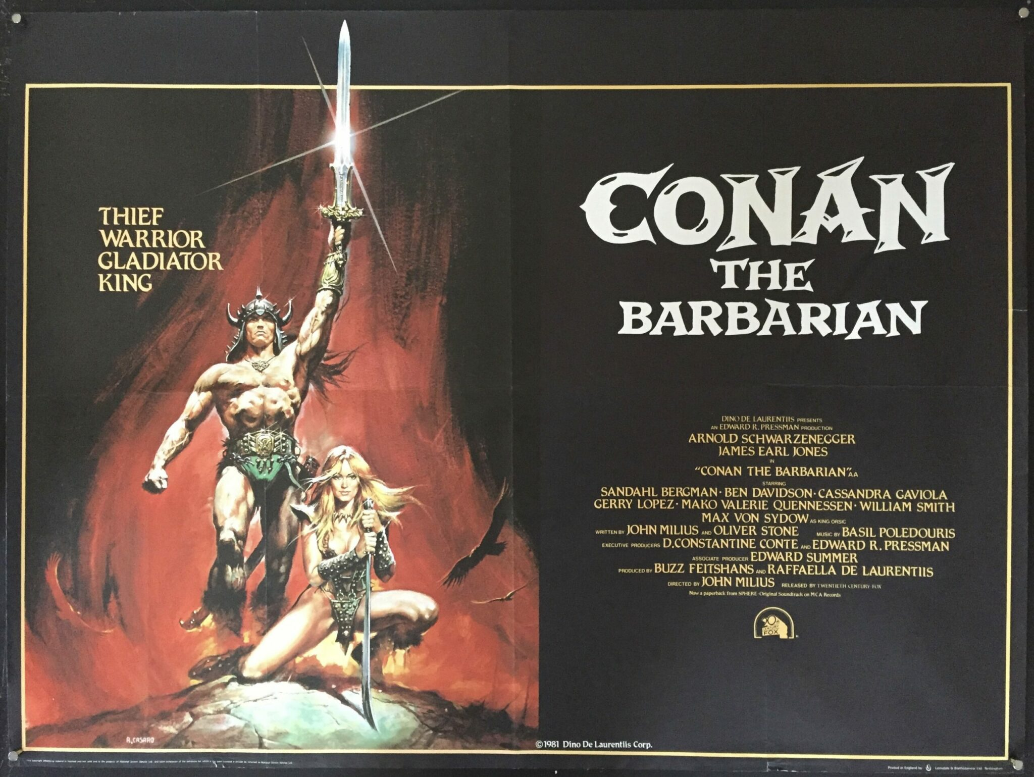 Conan, The Barbarian (1982), written by Oliver Stone.