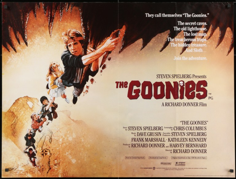 The Goonies film poster. Directed by Richard Donner - thescriptblog.com