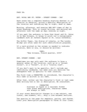 template for screenplay