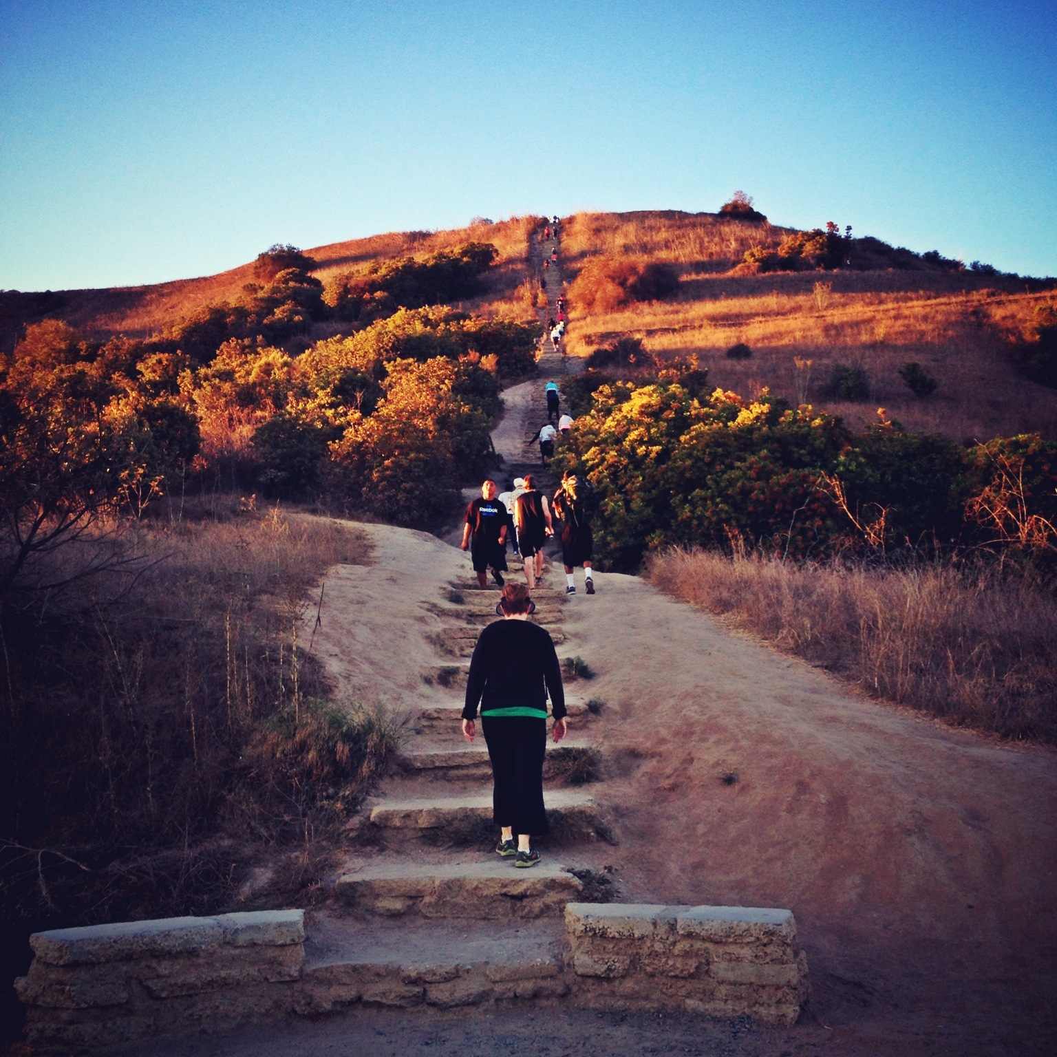 Stairs up to the Baldwin Hills Scenic Overlook