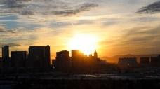 Sunrise over the strip