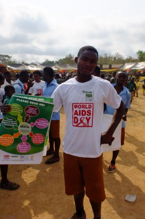 World AIDS day t-shirt and poster