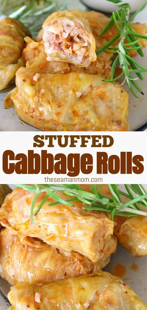 Consisting of tender leaves of pickled cabbage, stuffed and then rolled with meat, garlic, onion & rice, this cabbage rolls recipe makes the perfect savory dinner that everyone will absolutely love! via @petroneagu
