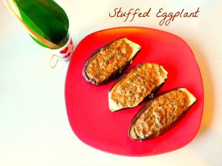 Quick Stuffed eggplant