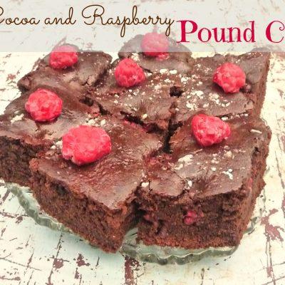 Cocoa and raspberry pound cake