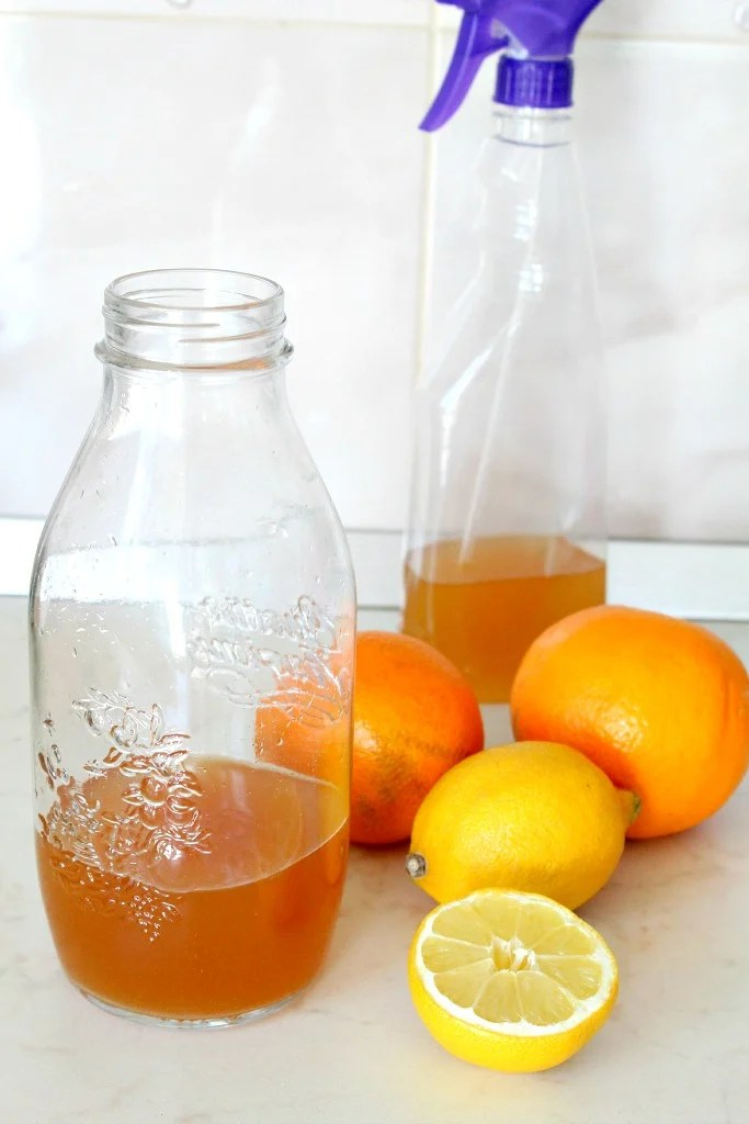 DIY citrus vinegar cleaner
