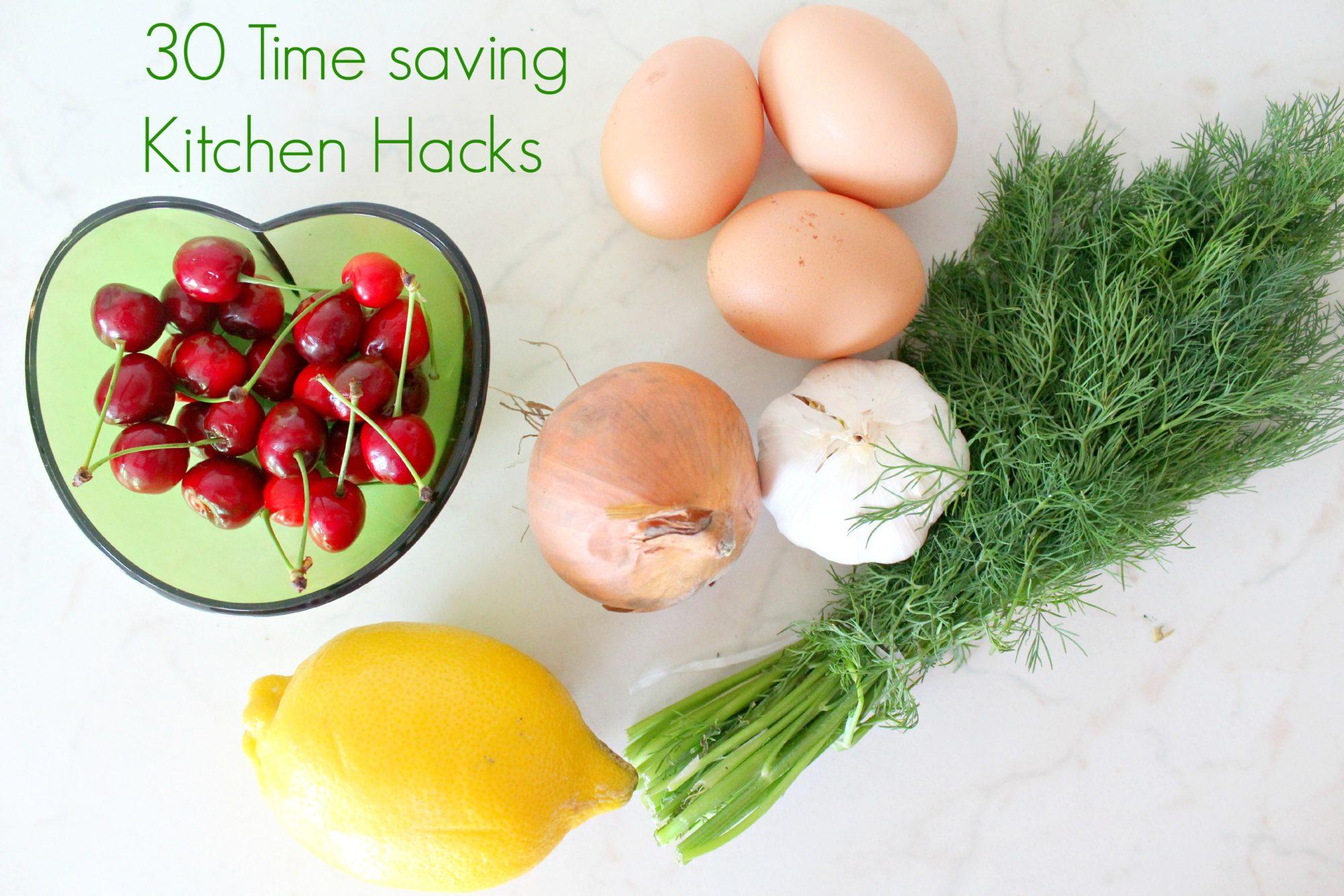 Time saving kitchen hacks