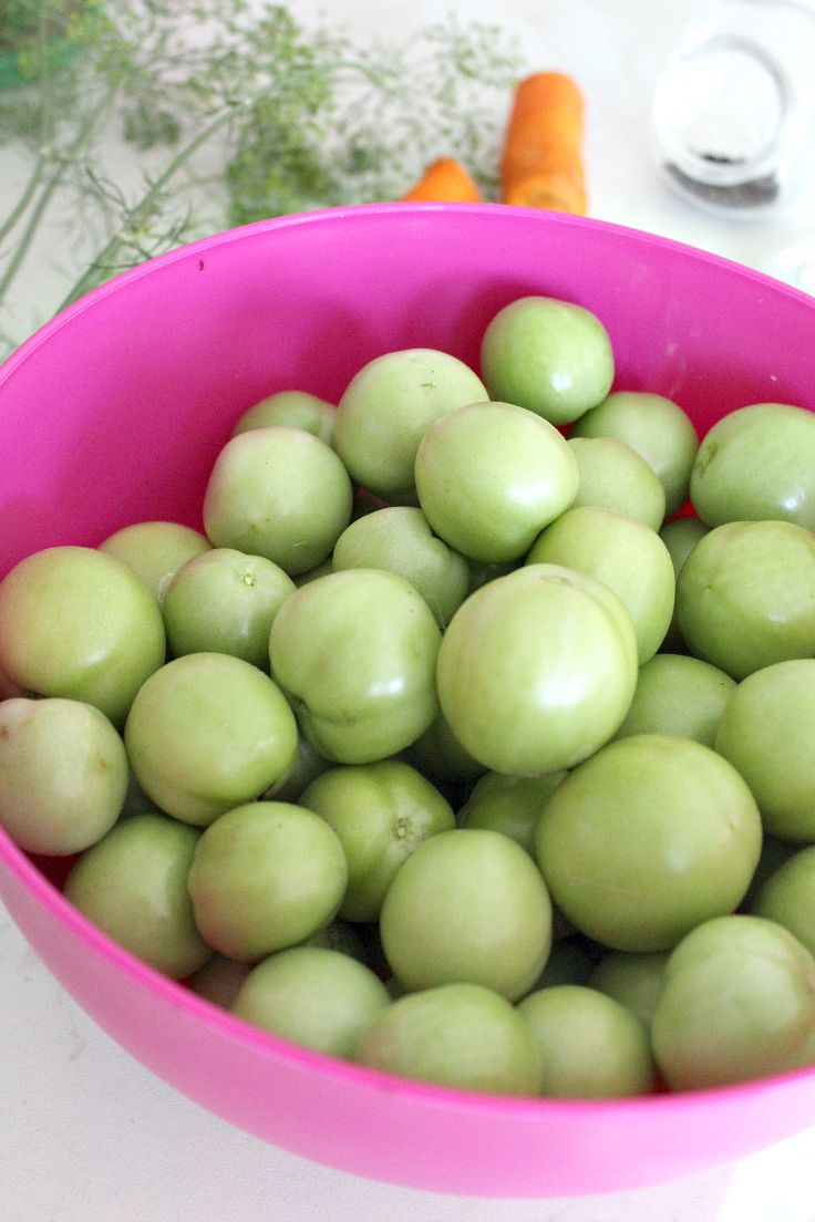 How to make pickled green tomatoes without vinegar 1