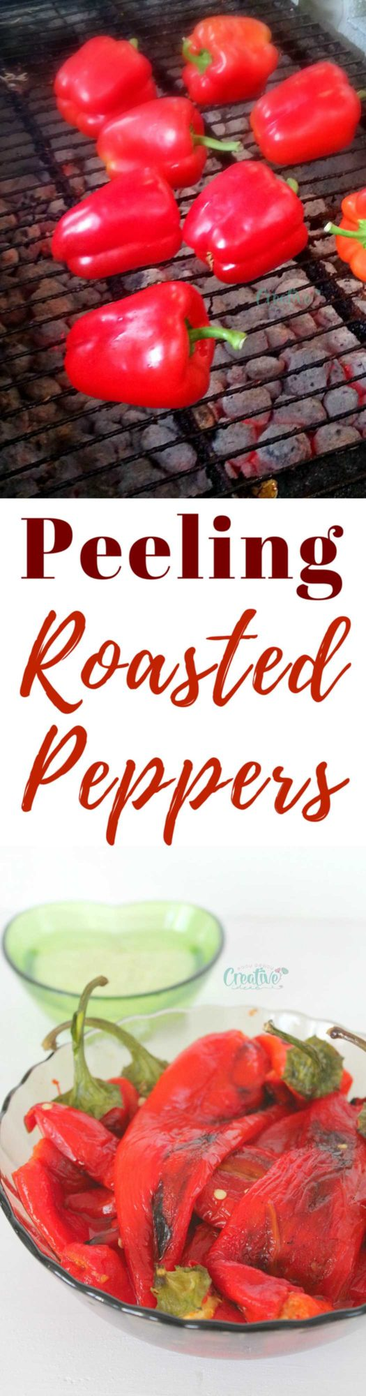How to peel roasted peppers