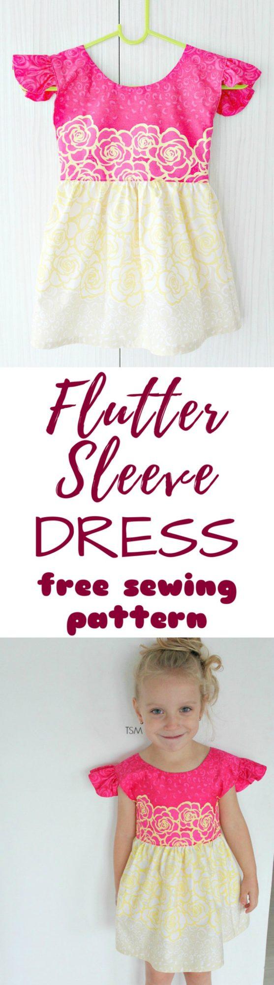 Flutter Sleeve Dress Tutorial