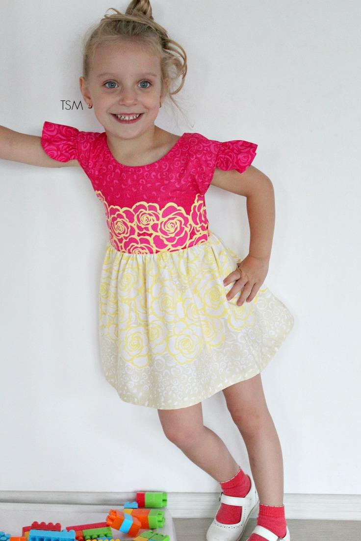 flutter sleeve dress pattern free