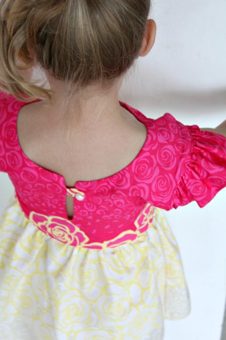 girls flutter sleeve dress pattern