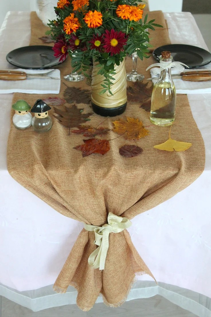 jute table runner perfect