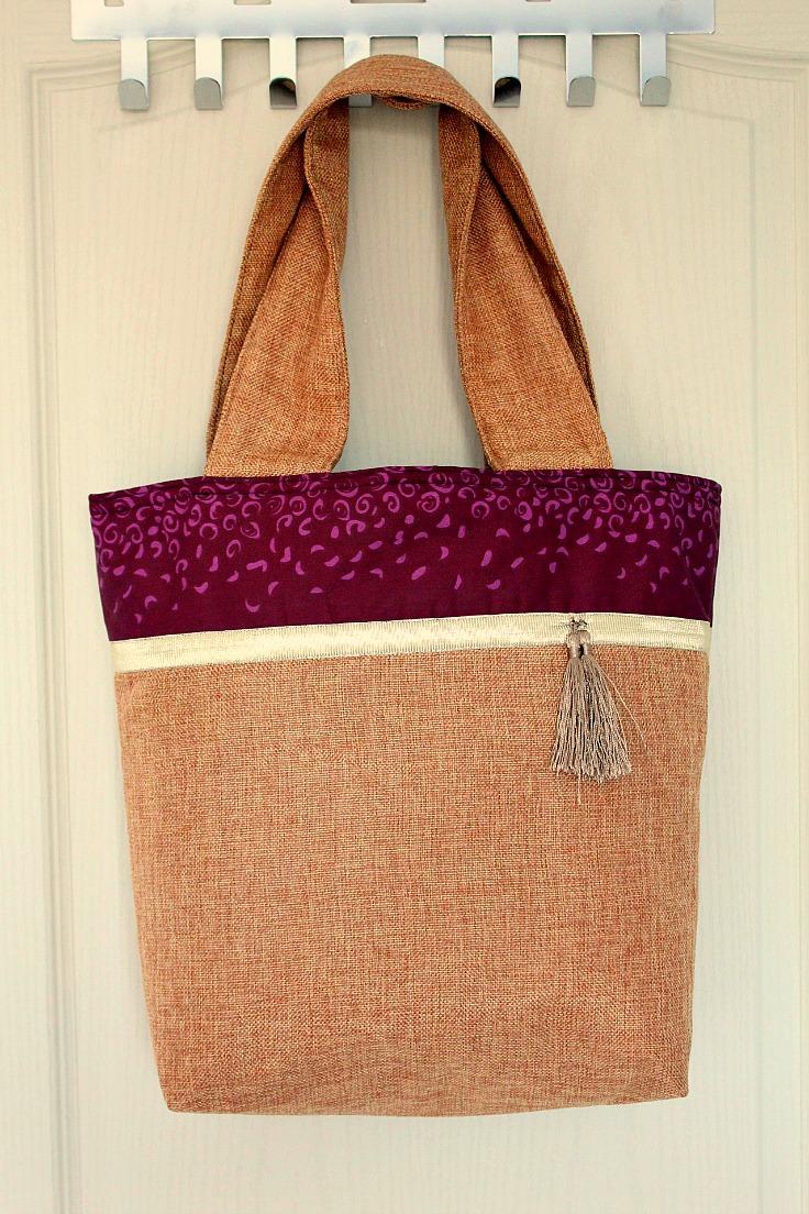 Sewing tutorial: Color block tote bag