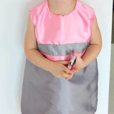 Sleeveless A line dress pattern in size 4T