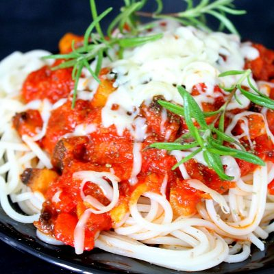 Veggie loaded Spaghetti Sauce recipe