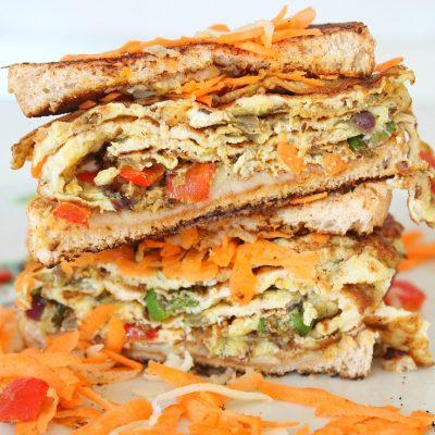 Spicy Indian Omelette sandwich recipe