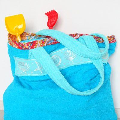 Super easy towel beach bag sewing tutorial