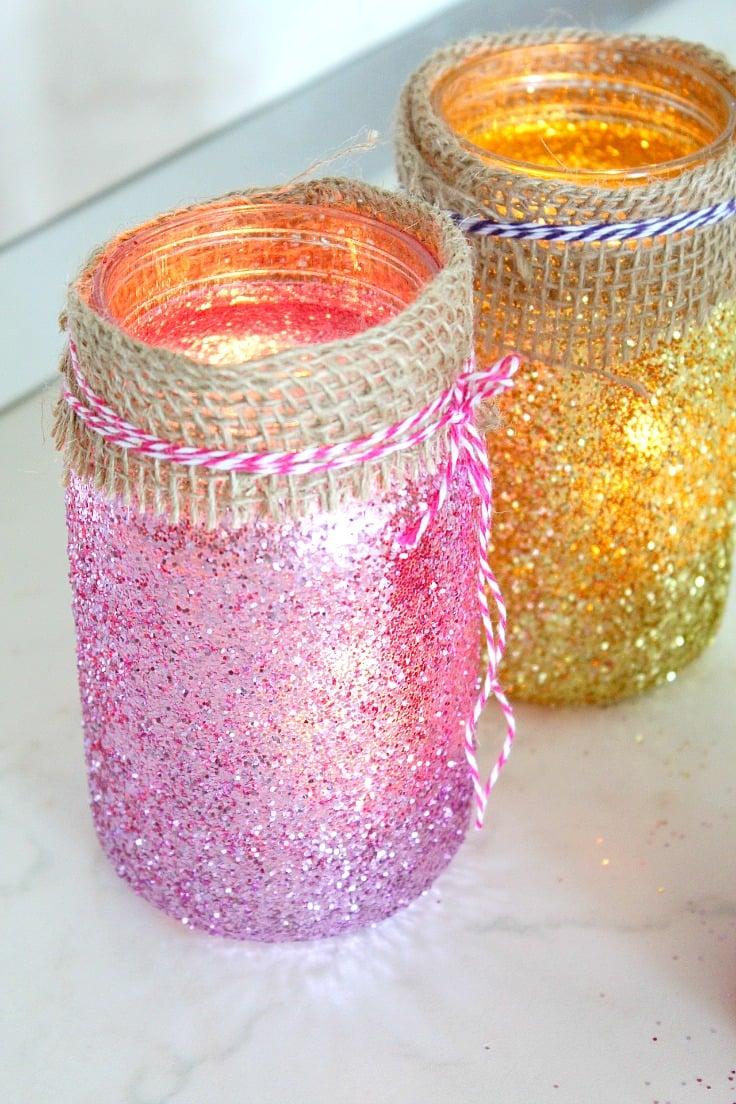 DIY Jar Luminaries