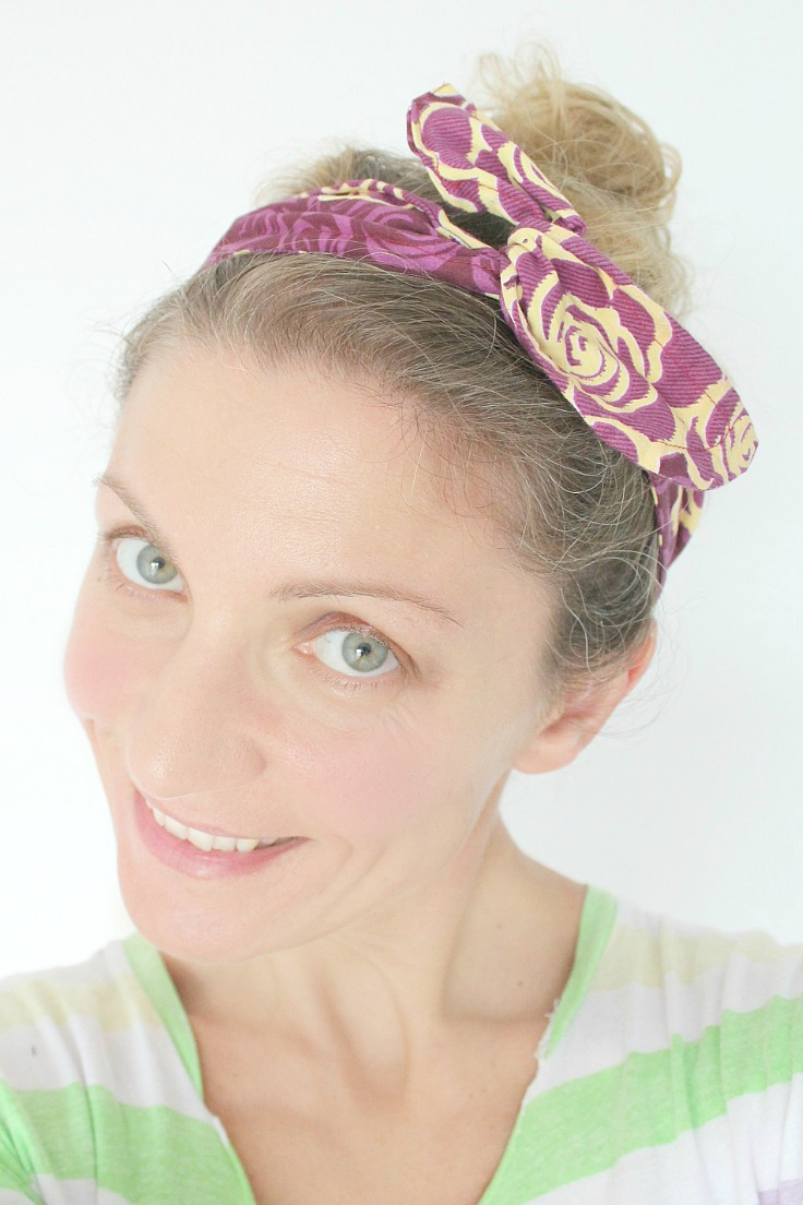 Sewing tutorial: DIY wired fabric headband