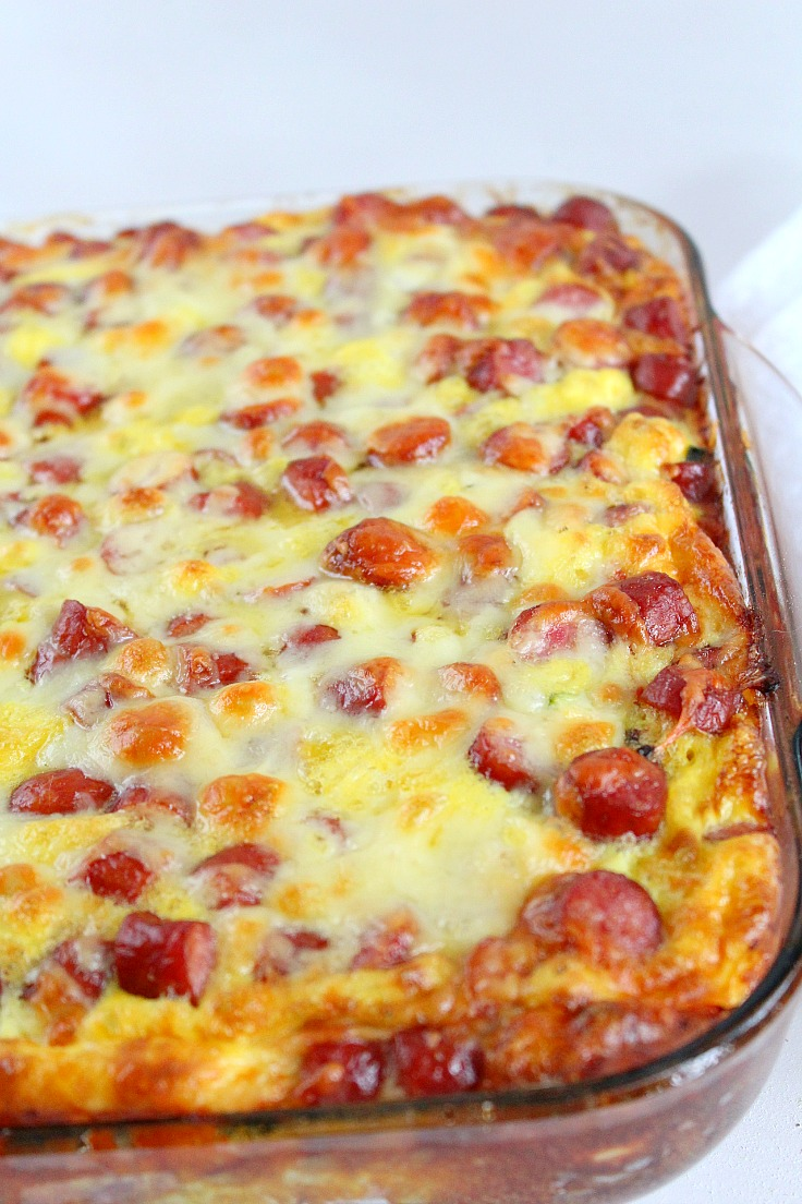 sausage bread casserole with veggies eggs cottage cheese