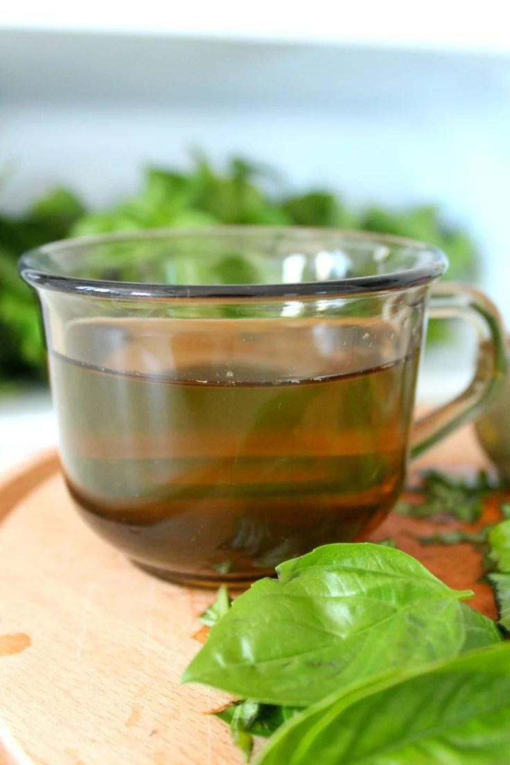 Image of a cup of basil Tea Recipe