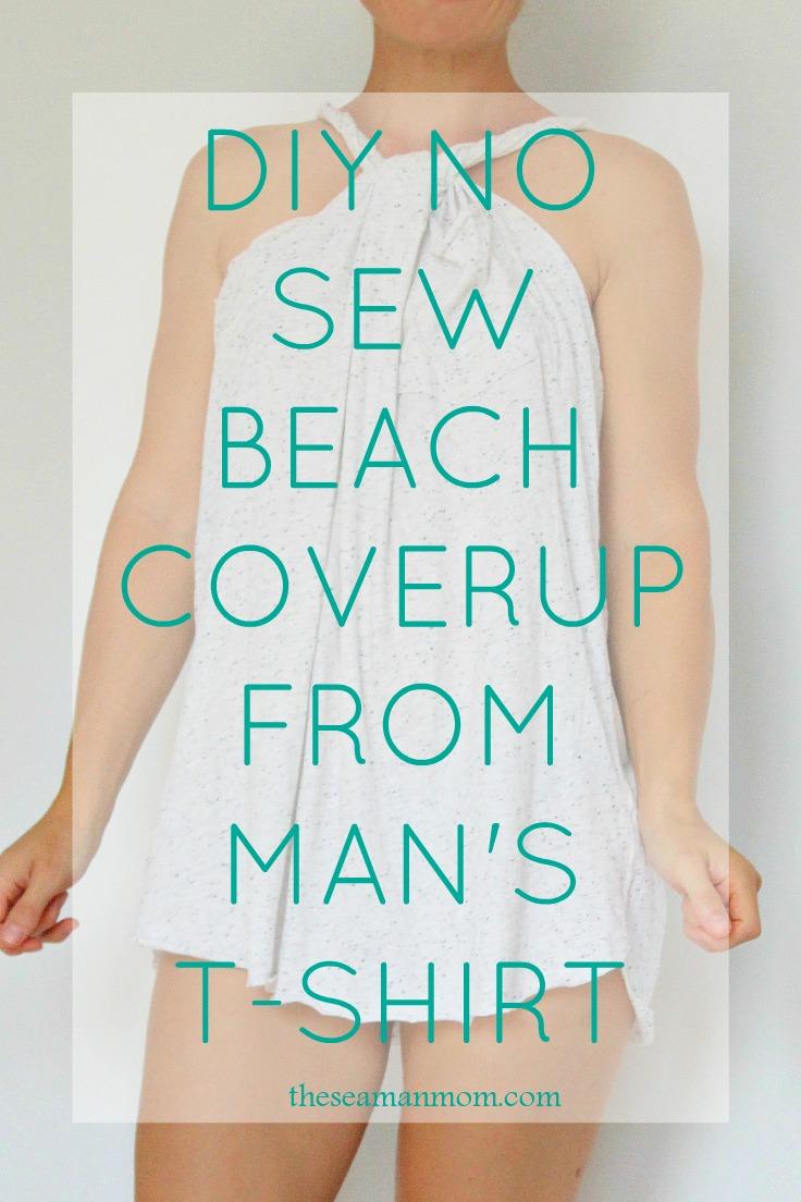 No sew beach cover up