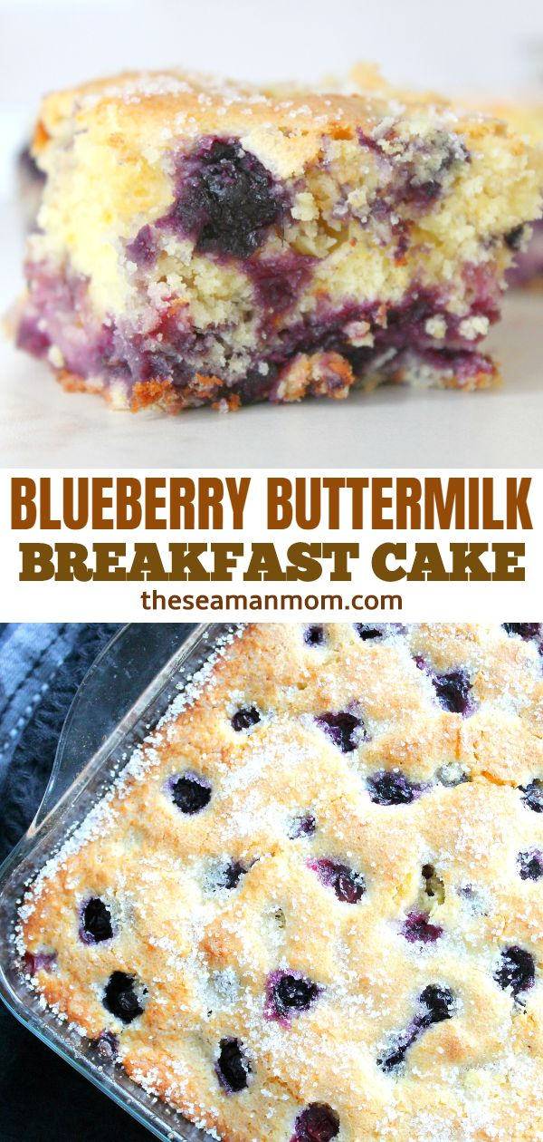 Light and fluffy blueberry breakfast cake, a lip-smaking way to start your day or a melt in your mouth snack to nibble on when the sweet cravings hit! via @petroneagu