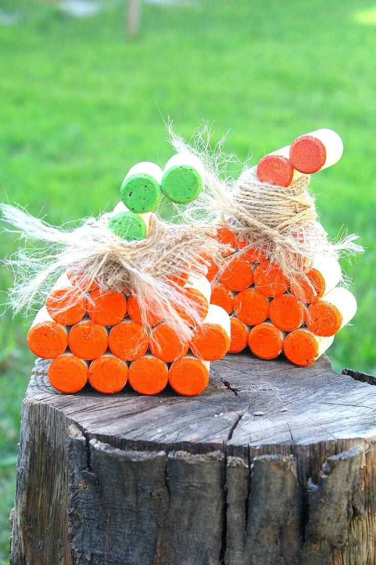 Cork Pumpkins