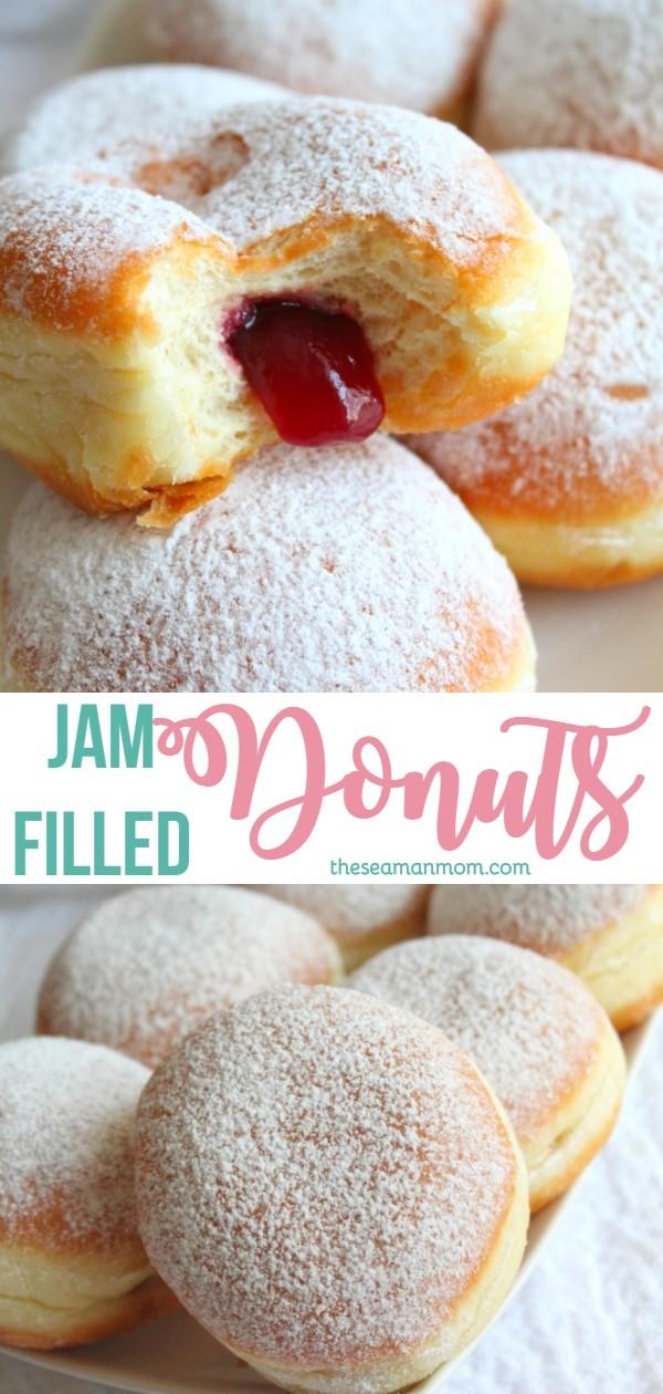 Jam filled donuts