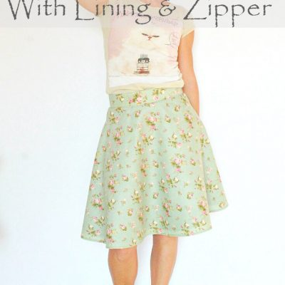 Half Circle Skirt With Lining And Zipper