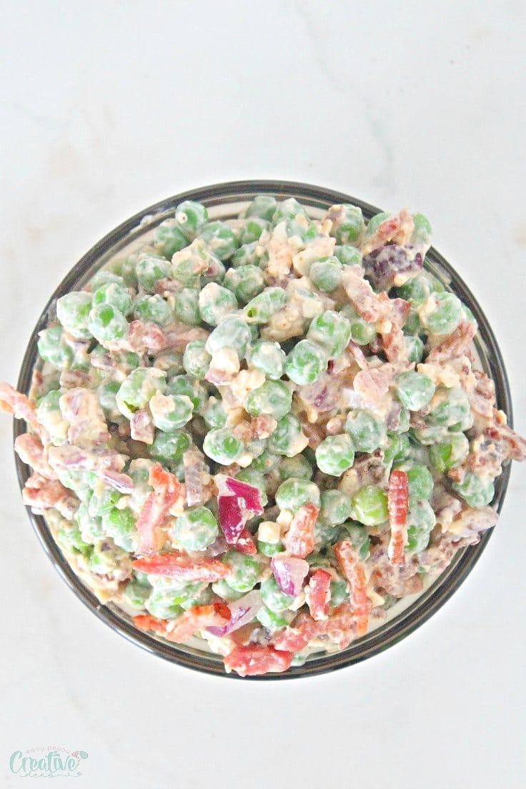 Pea bacon salad