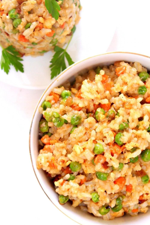vegetable egg fried rice recipe