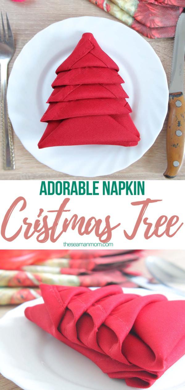 Christmas Napkin Folding.Christmas Tree Napkin Folding Party Ideas